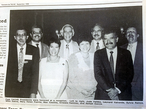 Newspaper picture of past presidents