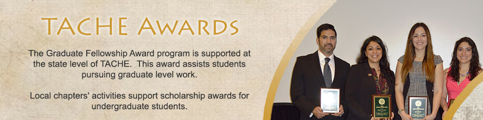 Banner for TACHE Awards and Fellowships